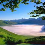 Italy, the apennine mountains, scenic wallpaper