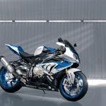 Blue motorcycle bmw