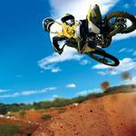 Motocross rider jumping sand desktop wallpaper