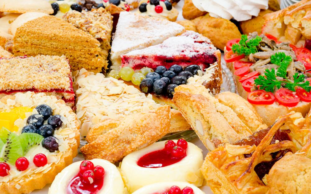 Abundance, cakes, confectionery, cakes, pies, berry tartlet