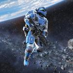 Space, soldiers, asteroids, shattered horizon, belt, planet, rifle