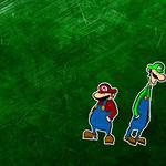 Green background, mario brothers, mario bross