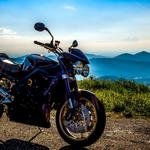 Motorcycle on the mountain