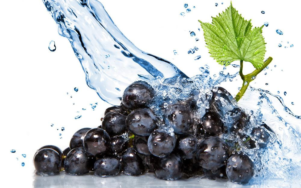 Grapes in water