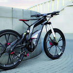Audi, carbon, gray background, sports, biking