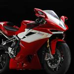 Motorcycle red mv agusta f4 rr corsa corte
