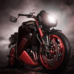 Motorcycle red lamp wallpaper