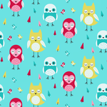 Patterns, texture, owls, art, vector