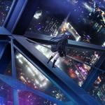 Makita maki, death is no will, animation, city, tower, high-altitude, girls, wallpaper