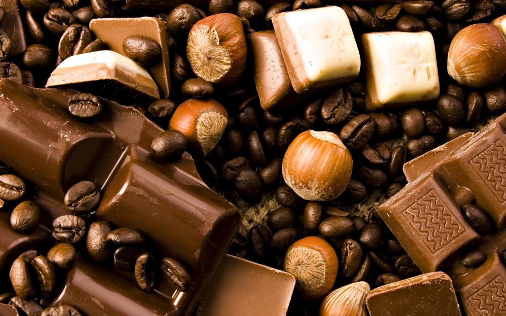 Chocolate, nuts