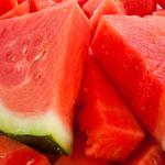 Pulp, slices of watermelon, chopped