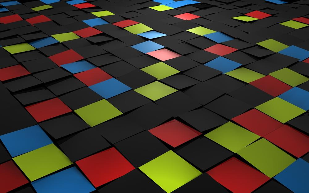Colored squares 3d graphics