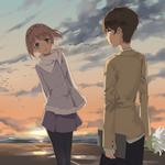 Love, couple, dating, romance anime wallpaper