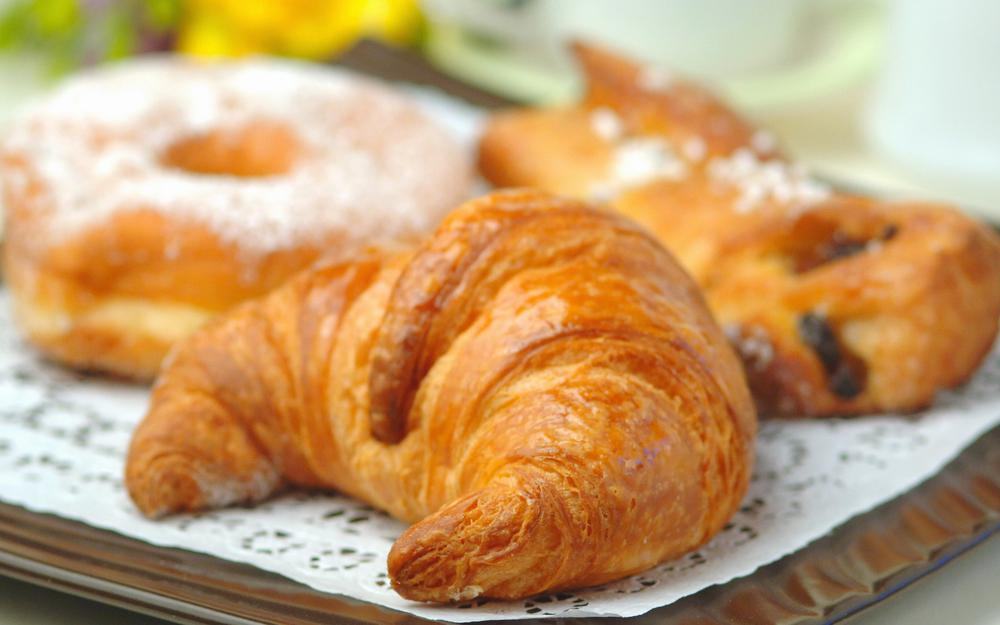 Croissant with chocolate