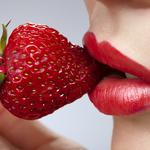 Food, strawberries, lips, red nails