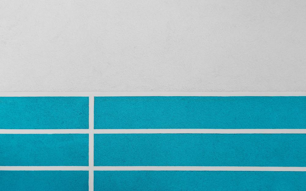 White, paint, lines, wall, blue