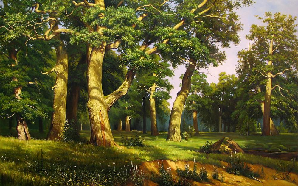 Forest, forest big, painting, painting, painting the