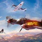 Me-410, war thunder, aircraft, fighter, war, clouds