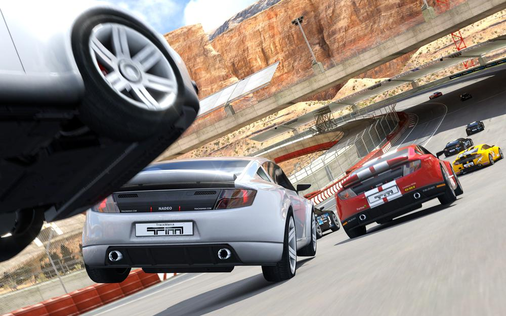 Trackmania, mountains, road, cars, 2
