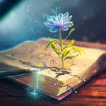 Flower of books wallpaper