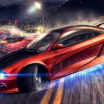 Need for speed, mitsubishi, road, police, lantern, night, city, speed, race, cars