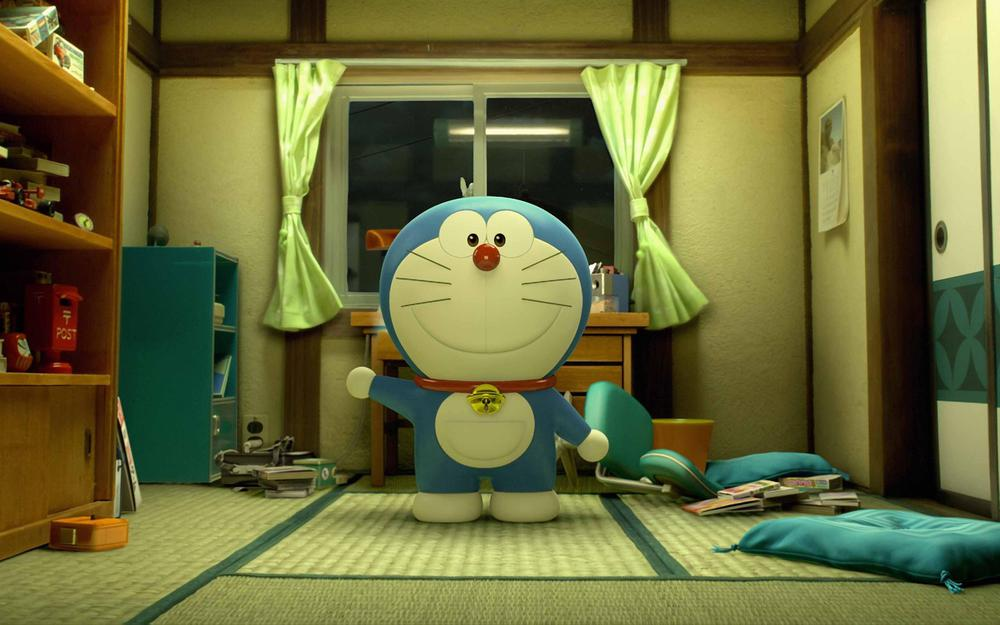 Doraemon, blue fat man, walk with me, sad, miss you, classic desktop wallpaper