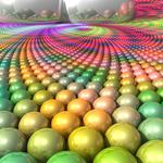 Balls, bright, surface, multi-colored