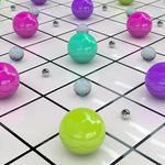 Colored, surface, balls