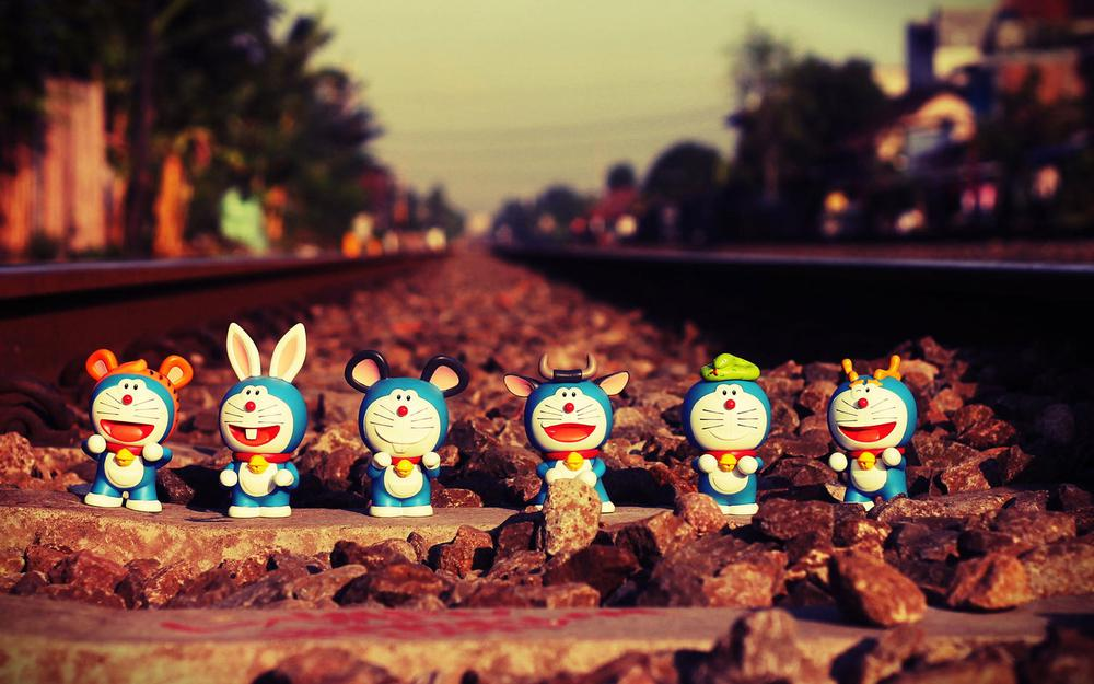 Doraemon, doraemon, doraemon, toys, railway, nostalgia, 61 happy children's day, desktop wallpaper