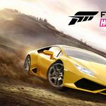 Car, logo, lamborghini, wheels, trees, microsoft game studios