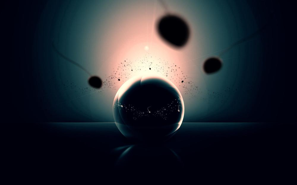 Ball, shadow, form, explosion