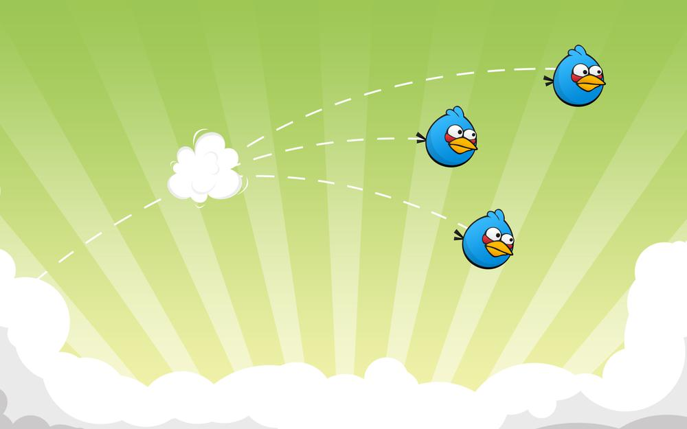 Game, birds, flight, game, squad, angry birds