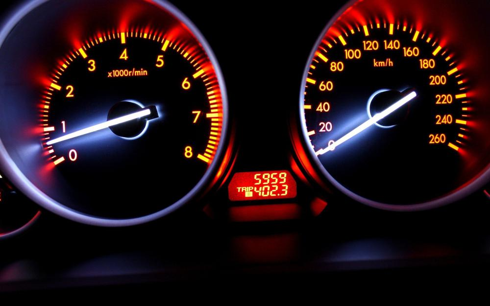 Juicy colors, car, speedometer