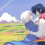 Howl's moving castle, girl, boy, love, desktop wallpaper