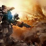 Titanfall, titan and soldier, city