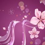 Flowers, lines, pink