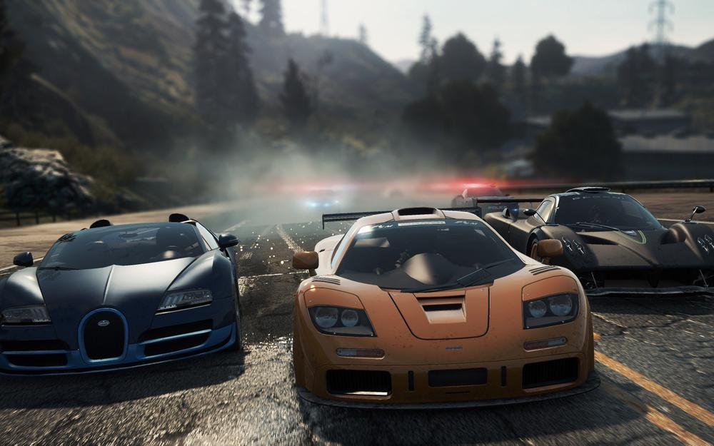 Need for speed most wanted 2012, race, veyron grand sport vitesse, sports cars, zonda r, mclaren f1, road