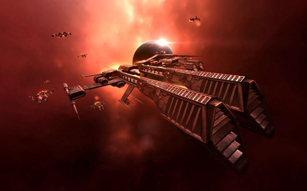 Eve online, space, ship