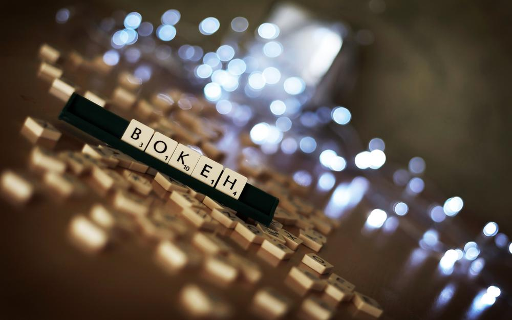Letters, cubes, table