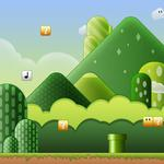 Game, bricks, pipes, mario, clouds, hills, mario