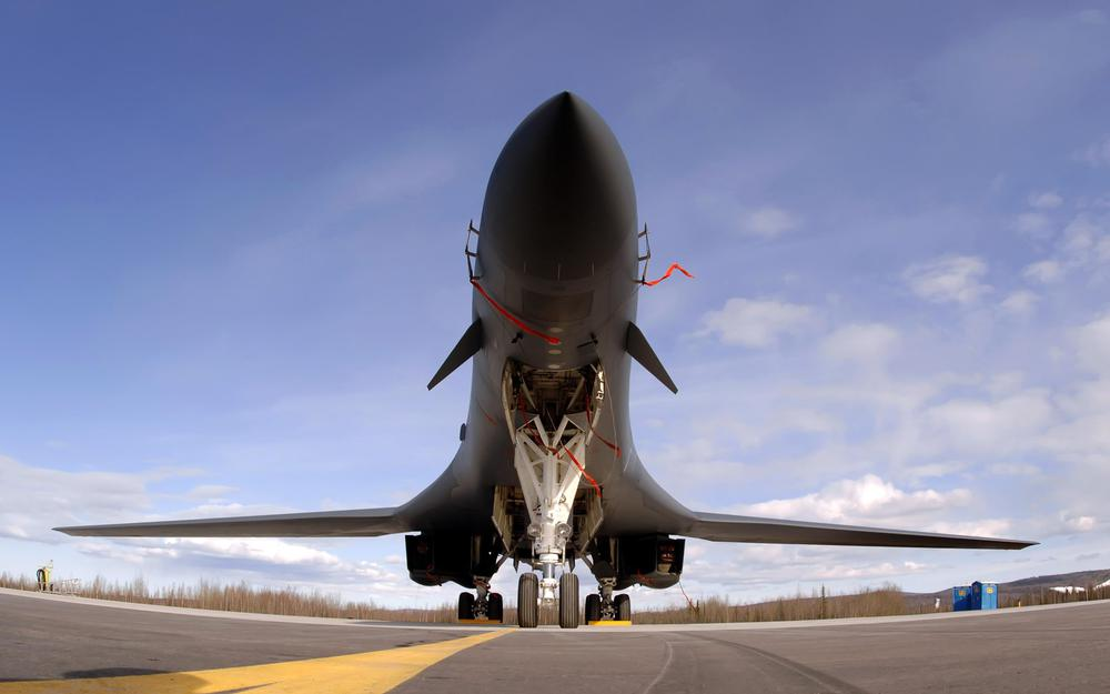 Bomber on the runway