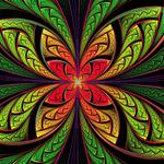 Bright, multicolored, flower shape hd wallpaper