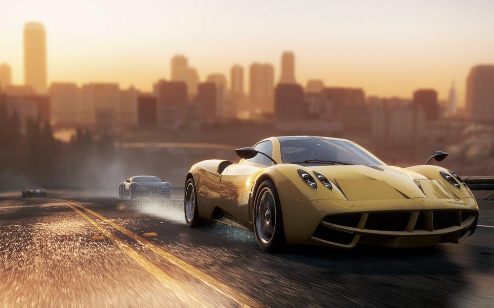 Game, need for speed, evening, pagani huayra, 2012, bugatti veyron