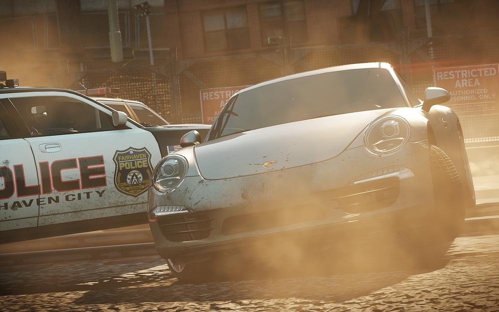 Need for speed most wanted 2012. porsche, cops, chase, smoke