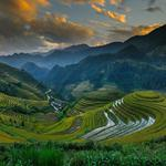 Hometown is always the most beautiful scenery, mountains, hills, terraces, rice fields, plantations, desktop wallpapers