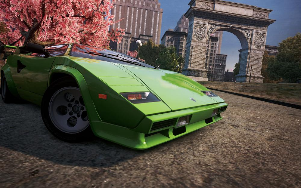 Need for speed most wanted 2012, city, lamborghini countach, classic, sports car, view