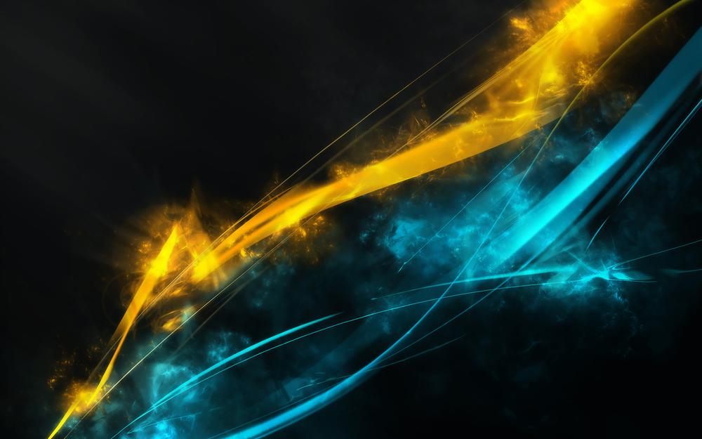 Yellow-blue lines wallpaper