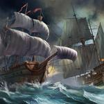 Graphics ships storm wallpaper