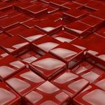 Cubes, red, surface