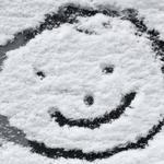 Joy, mood, drawing, smile, winter, snow, outline